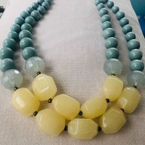 Yellow & Turquoise Necklace